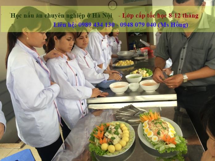 Học nấu ăn chuyên nghiệp ở Hà Nội