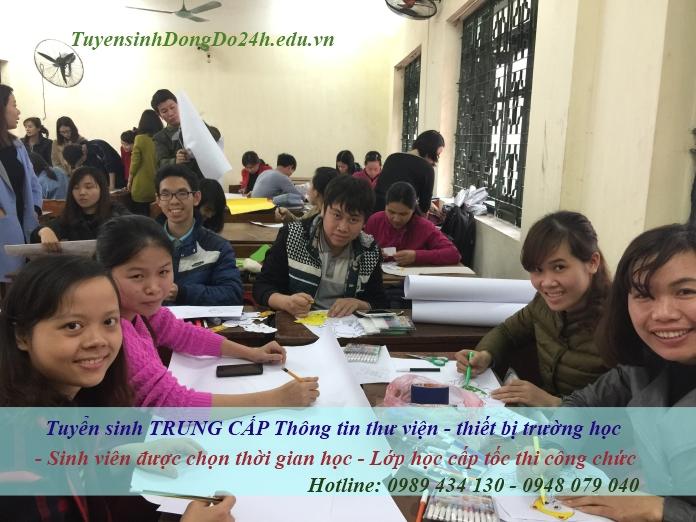 Lớp học đào tạo trung cấp thư viện tại Hà Nội của trường
